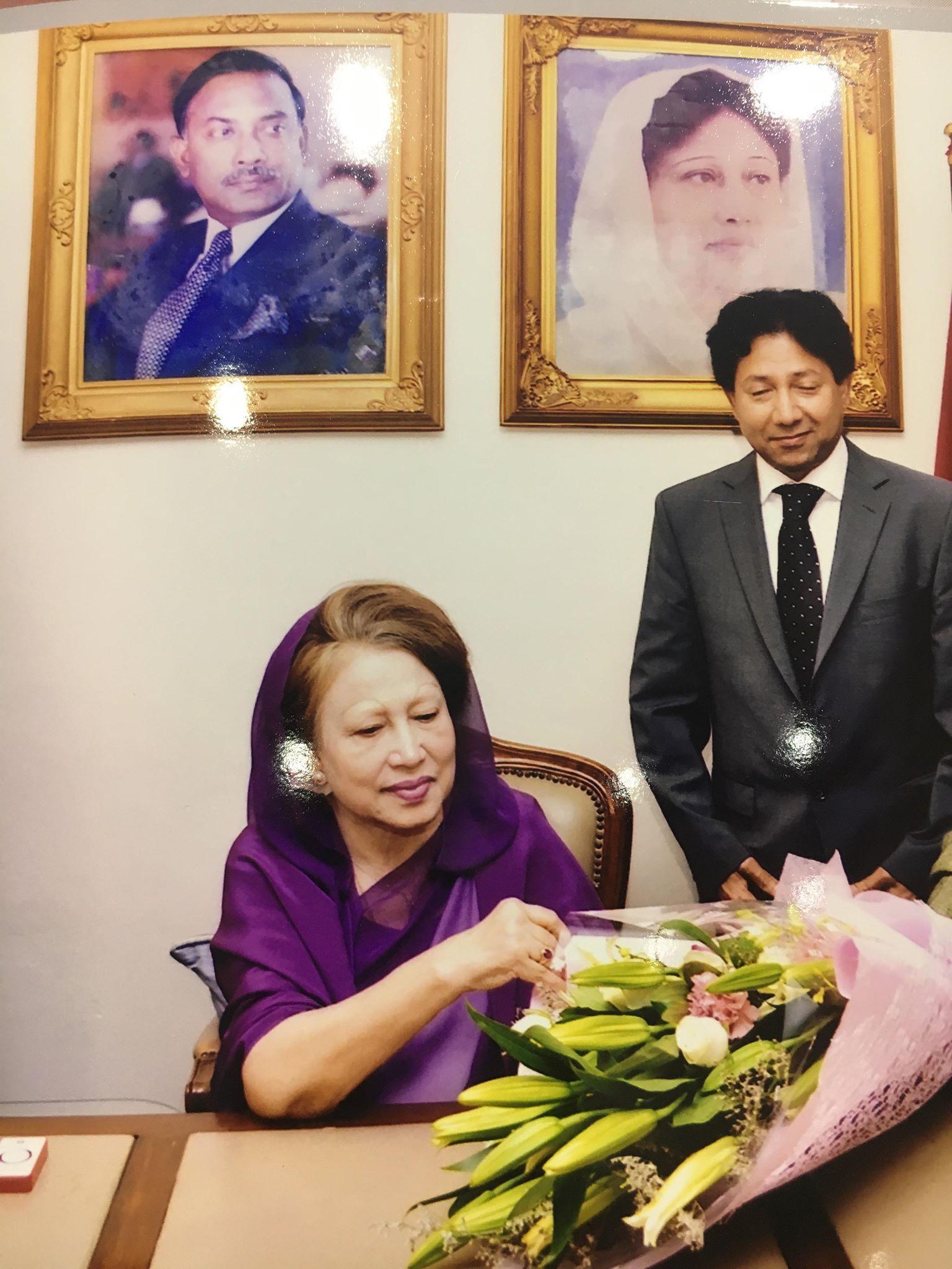 দেশনেত্রী বেগম খালেদা জিয়ার সাথে জার্মান বি এন পি এর সাক্ষাত